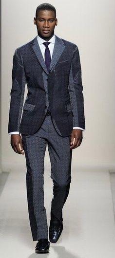 Sharp Dressed Man, Well Dressed Men, Fashion Show, Mens Fashion, Fashion Design, Milan Fashion, Fashion Guide, Fashion Gallery, Fashion Black