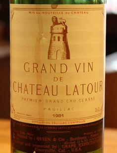 1981 Chateau Latour Grand Vin