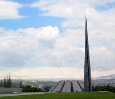 Tsitsernakaberd Memorial in Yerevan, Armenia; located on the Hrazdan River, it is a dedication to victims of the Armenian Genocide of 1915.   Thanks to http://genocide-museum.am/eng/ and, for the image link, http://en.wikipedia.org/wiki/Tsitsernakaberd