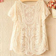 dfca81b6fd03b Amazon.com   TRURENDI Womens Crochet Knitted Open Vest Boho Casual Summer  Cover-Up Tops Blouse (beige)   Beauty Products   Beauty
