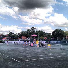 Attendees playing tennis @EvianWater #evianwrc - Follow bizbash_news on Instagram http://bizba.sh/FollowGram