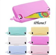 Lovely Little Whale iPhone Case Silicone Case Cover for iPhone 4/4S/5/5S/5C