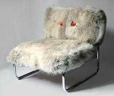 WHITE OWL - steel, fur