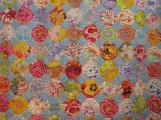 Snowball quilt ;made with Kaffe Fassett fabric