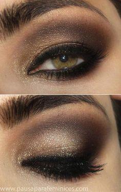 Tutorial - a maquiagem dourado e marrom poderosa de Mila Kunis