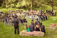 Garden wedding in Connecticut  [© Rachael Wright]