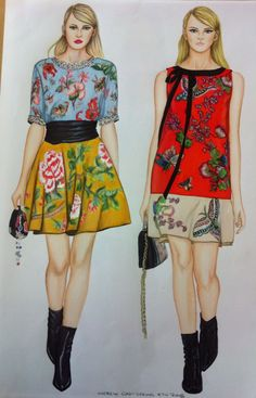 Fashion illustration by Trudi Fraser