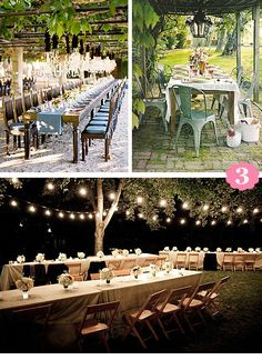 Backyard Lighting Ideas ~ Like the metal structure to use as frame for light.