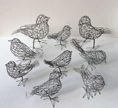 Delightful chicken wire birds!