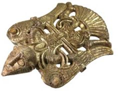 Archaeologists in Sweden has discovered a fine bronze piece depicting Wayland the Smith wearing his cloak of feathers and flying. They believe that the piece was a mounting on a small box, though there are any number of ways it might have been used in the 7th to 10th Centuries.
