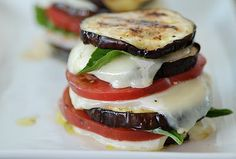 grilled eggplant napoleons. i've been on such an eggplant kick lately!
