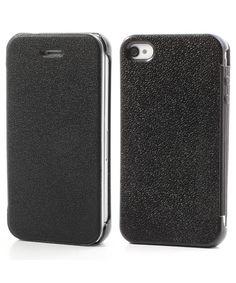 iPhone 4/4S Ultra Dunne Flip Cover Zwart