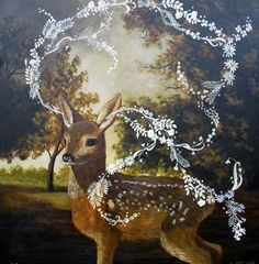 "lawhimsy: "" What the Fawn Heard by Anne Siems """