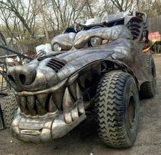 Weird Cars Picdump 47 Funny Image from evilmilk. Weird Cars Picdump 47 was added to the pictures archive on Mad Max, Cool Trucks, Big Trucks, Dodge Trucks, Custom Trucks, Custom Cars, Custom Rat Rods, Moto Steampunk, Vw T1 Camper