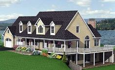 Plan W3738TM: Traditional, Farmhouse, Country, Sloping Lot House ...