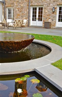 Fountain, Custom, In Ground Fountain Liquidscapes Pittstown, NJ