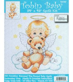 Tobin Baby Stamped Cross Stitch Angel Baby