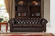 Amax Leather Aberdeen Top Grain Leather Sofa