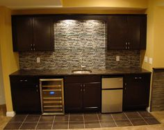 Pretty Basement Wet Bars Image Gallery in Basement Contemporary design ideas with Pretty basement wet bar stone tile backsplash : basement wet bar ideas  - Aeropaca.Org