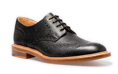 NPS Gibson Shoe. Black coloured derby shoe. Handmade in Britain. Available at www.shoes121.co.uk.