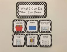 Illustrated labels that describe activities students may participate in when the