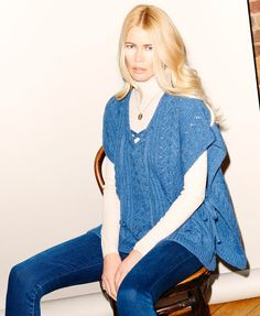 sweater from Claudia Schiffer's new line