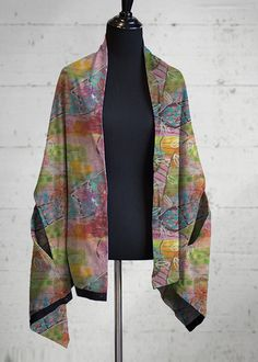 Silk Square Scarf - leaves by VIDA VIDA KoulK