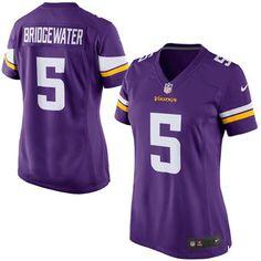 Nike Teddy Bridgewater Minnesota Vikings Women's Purple Game Jersey #vikings #nfl #minnesota