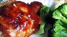Baked Teriyaki Chicken (I'll substitute boneless, skinless chicken breast and use low sodium soy sauce.)