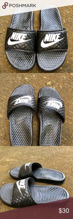 Women's Nike Slides Practically brand new. Only worn once. Comfortable for around the house, running errands, post workout etc. Nike Shoes Sandals
