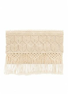 Macrame clutch with fringe!! Yes please!!