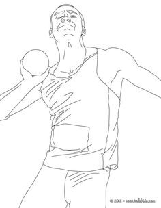 Shot Put Athletics Coloring Page More Sports Pages On Hellokids