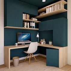 Study Room Design, Home Room Design, Home Office Design, Home Interior Design, House Design, Home Office Layouts, Home Office Setup, Small Home Offices, House Rooms