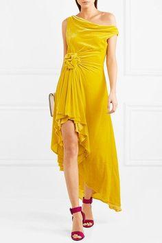 Monse | Off-the-shoulder knotted velvet dress | NET-A-PORTER.COM