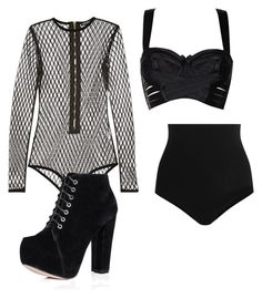 """Stage Outfit"" by pizza-lover02 ❤ liked on Polyvore featuring Balmain, Bordelle and Wolford"