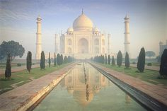 Early morning at the Taj Mahal, Agra. © Peter Adams / Getty Images