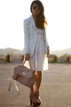 anxious to try sheer layers for spring.. . and also have been searching for the perfect oversized, white blazer