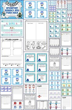 Celebrate winter with this great set of math and literacy activities.  Go perfectly with the books Snowmen at Work and Snowmen All Year.