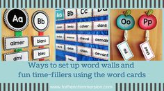 Editable French Word Wall - use word walls in the French classroom to help students visualize and expand vocabulary. Check out 3 design options here. Inquiry Based Learning, Home Learning, French Lessons, Spanish Lessons, Teaching French, Teaching Spanish, Core French, French Classroom, French Resources