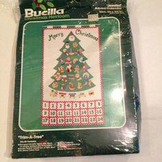 bucilla felt advent calendar kit | BUCILLA-Christmas-Heirloom-Felt-Kit-JEWELED-ADVENT-CALENDAR-48799-Trim ...