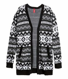 Black & white patterned cardi from H&M