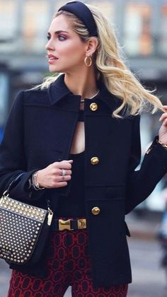 Preppy Fall Fashion, Autumn Fashion Classy, Preppy Look, Fall Fashion Outfits, Womens Fashion, Street Style Looks, Street Style Women, Vow To Be Chic, Fashion Quotes