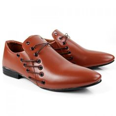 British Style Pointed Toe and Lace-Up Design Formal Shoes For Men found on desslily.com