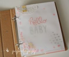 Hello Baby, Project life, Hallo Baby, Album zur geburt, stamping up, paper-la-papp.blogspot.com, nähen, stempeln, bigshot
