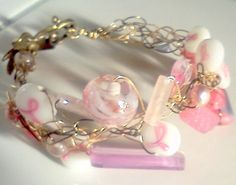 breast cancer awareness bracelet...for the supporters and survivors and in remembrance of those lost.....