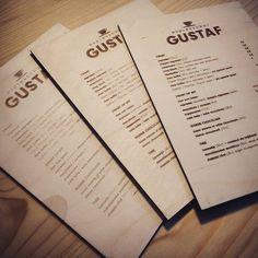 Verschillende diepte gravures #gustaf #menu #lasercut.be by lasercut.be