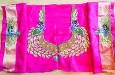 Love The Peacock Aari Work On The Sleeves