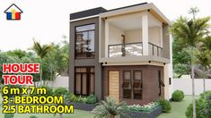 Small Modern House Plans, Small House Design, 2 Storey House, House 2, Box Design, House Tours, Shed, Bedrooms, Outdoor Structures