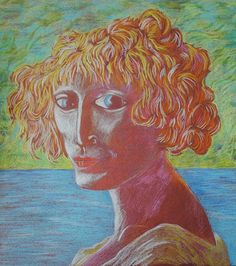 Pete Holbrook -  coloured pencil copy from Augustus John