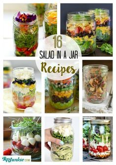 Salad Recipes In A Jar is Among the Liked Salad Of Many Persons Round the World. Besides Simple to Make and Excellent Taste, This Salad Recipes In A Jar Also Healthy Indeed. Mason Jar Lunch, Mason Jar Meals, Meals In A Jar, Salad Mason Jars, Mason Jar Recipes, Healthy Recipes, Salad Recipes, Healthy Snacks, Healthy Eating